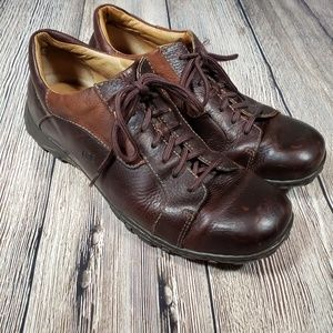 Born Mens brown leather oxfords size 12
